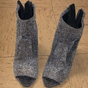 Sparkly GUESS sock heel